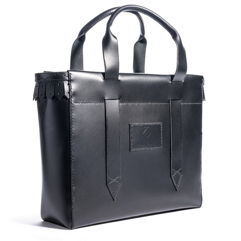 Lajoie palais shoulder tote black front left