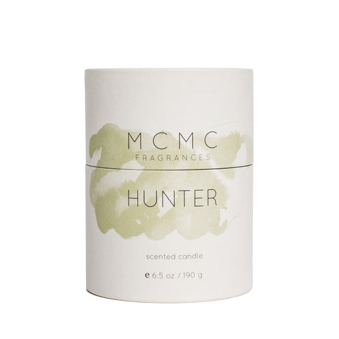 mcmc hunter candle front package