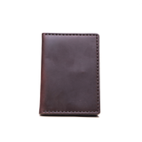 dark brown traveler wallet