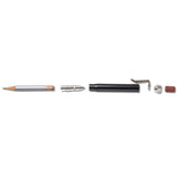 metal shop bullet pencil black aluminum section
