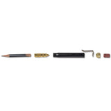 metal shop bullet pencil black brass section