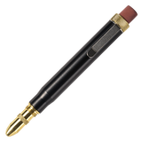 metal shop bullet pencil black brass round tip front