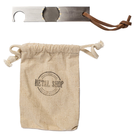 metal shop twist bottle opener top with bag