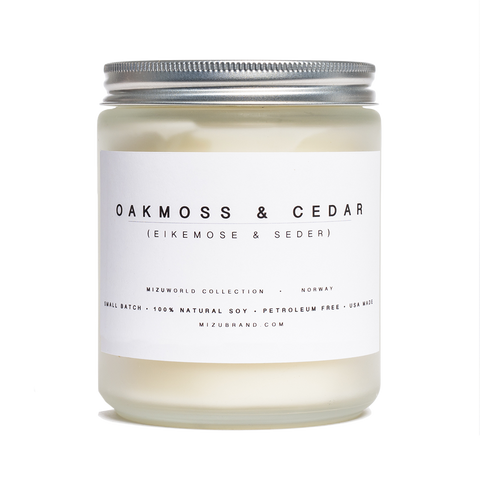 MIZU candles Norway oakmoss and cedar