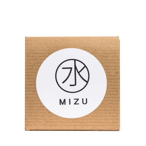MIZU candles Norway oakmoss and cedar package top