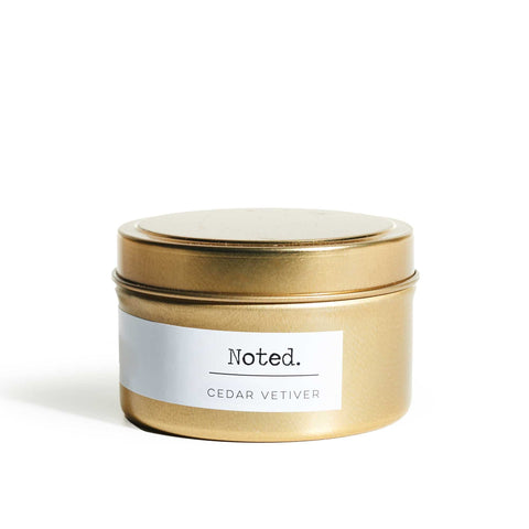 Noted Gold Tin Candle Cedar Vetiver