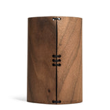 prink walnut wood bottle koozie back