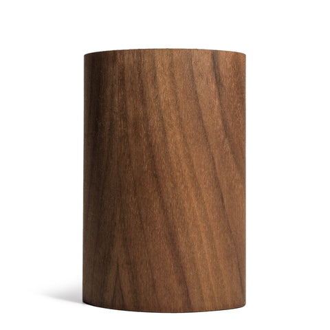 prink walnut wood bottle koozie front