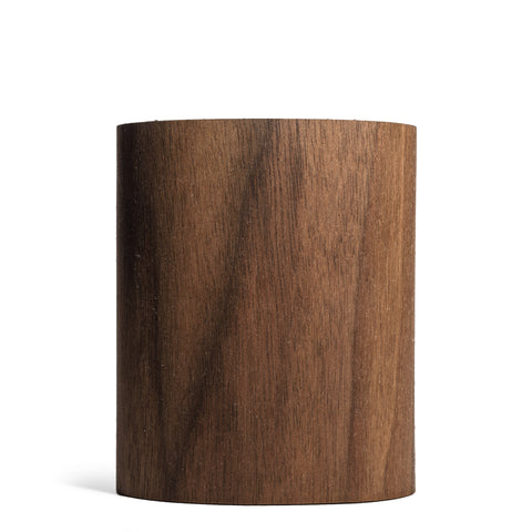 prink walnut wood can koozie front