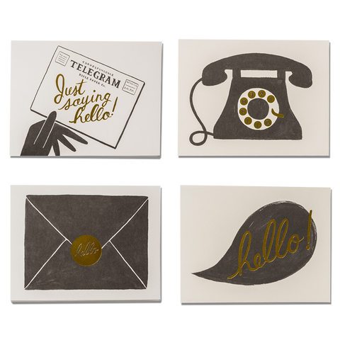 rifle paper co hello cards assorted