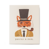 rifle paper co you're a fox greeting card