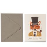 rifle paper co you're a fox greeting card with envelope