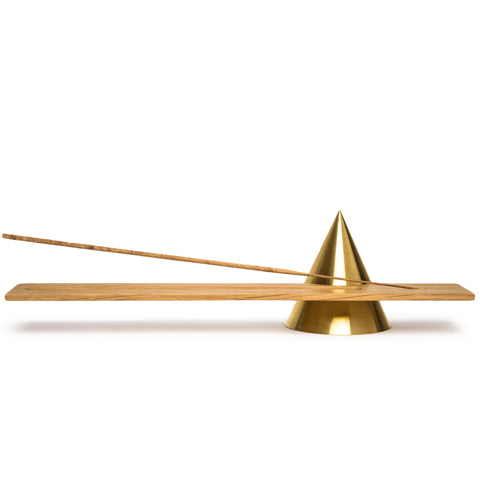 sonny marshall studios solid brass cone incense holder full