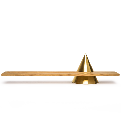 sonny marshall studios solid brass cone incense holder