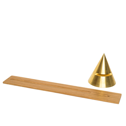 sonny marshall studios solid brass cone incense holder separated
