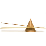 sonny marshall studios solid white oak cone incense holder full