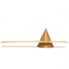 wooden cone incense holder