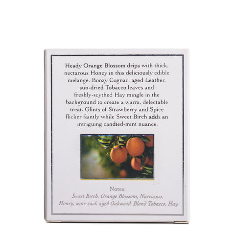 Orange Blossom by Thorn & Bloom, back packaging