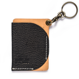 thread honcho keychain cardholder black front