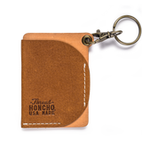 thread honcho keychain cardholder brown front