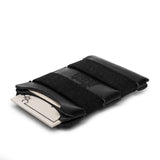 thread honcho elastic band wallet black angle