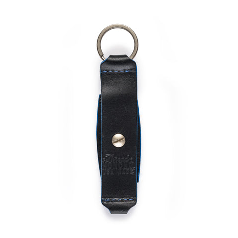 thread honcho flip key fob card holder black closed back