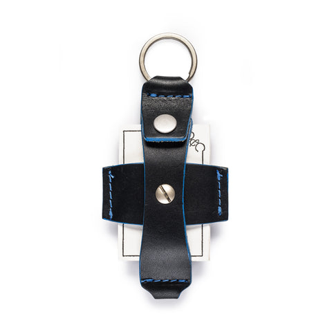 thread honcho flip key fob card holder black open front full