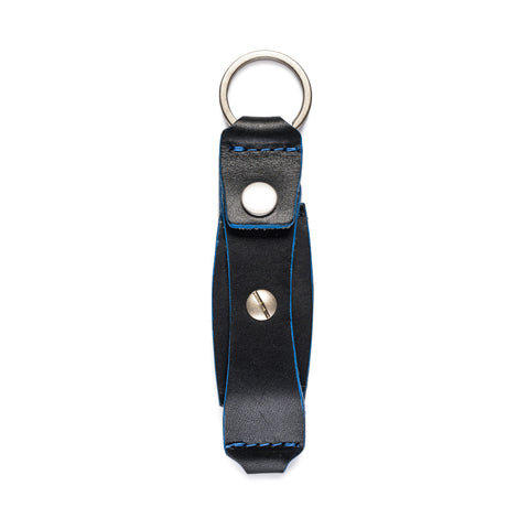 thread honcho flip key fob card holder black closed front
