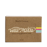 wary meyers scented soap beachy coconut boxed