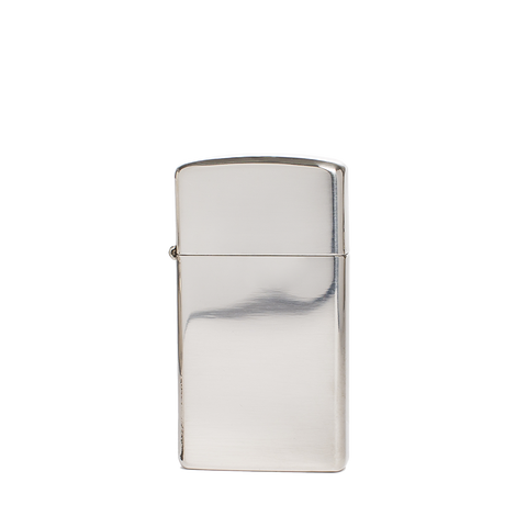 zippo lighter slim sterling silver front