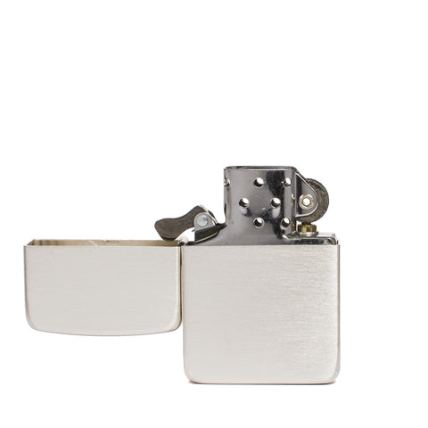 zippo lighter 1941 replica satin sterling silver front open