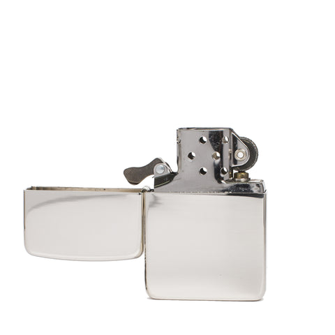 zippo lighter 1941 replica polished sterling silver front open