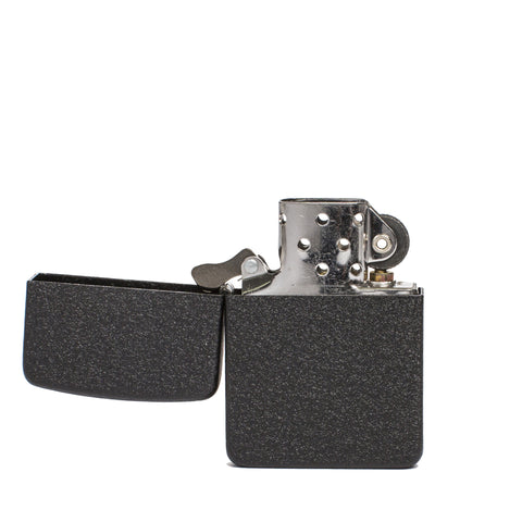 zippo lighter 1941 replica black crackle front open