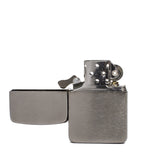zippo lighter 1941 replica black ice front open