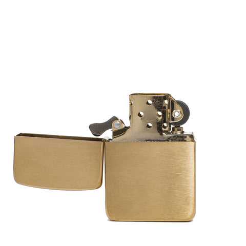 zippo lighter 1941 replica brass vintage front open
