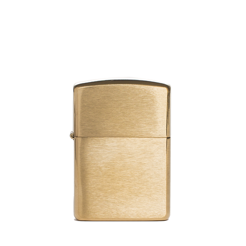 zippo lighter armor brushed brass front