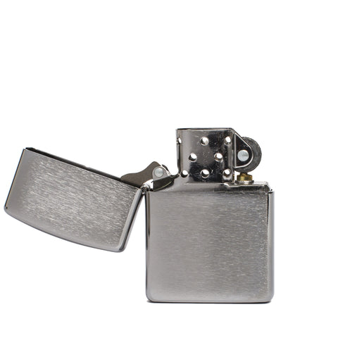 zippo lighter armor brushed chrome' front open