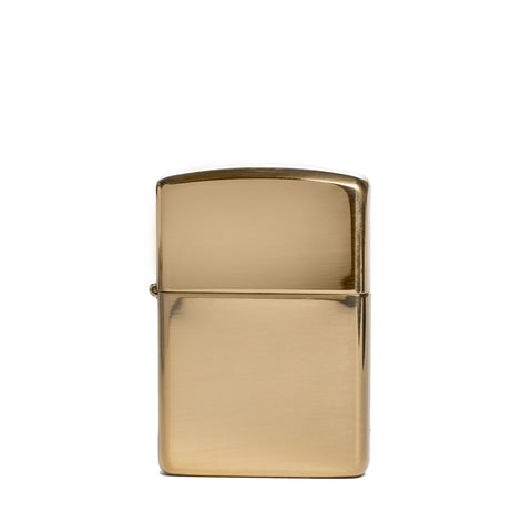 zippo lighter armor polished brass front