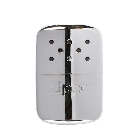 zippo hand warmer chrome front