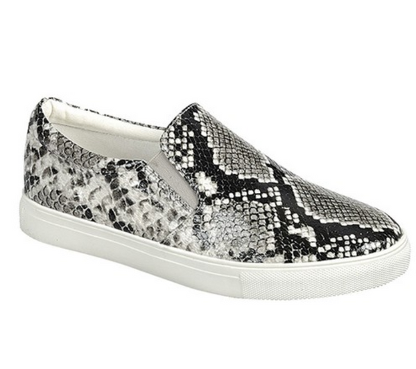 Slip-On Snake Print Sneakers