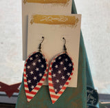 Stars & Stripe Teardrop Earrings
