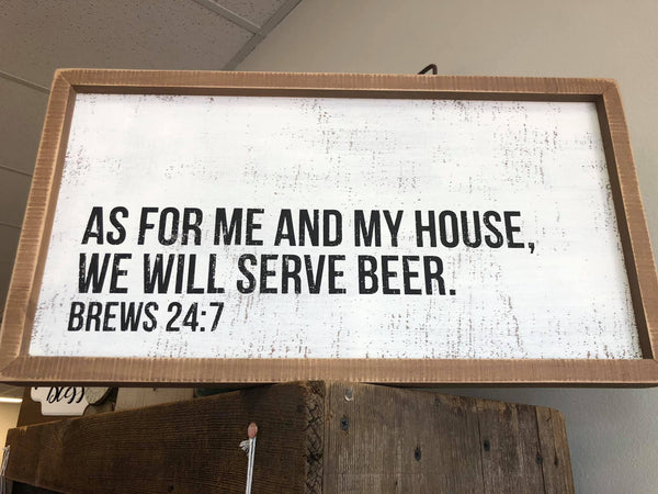 Beer & Brew 24:7 Box Sign