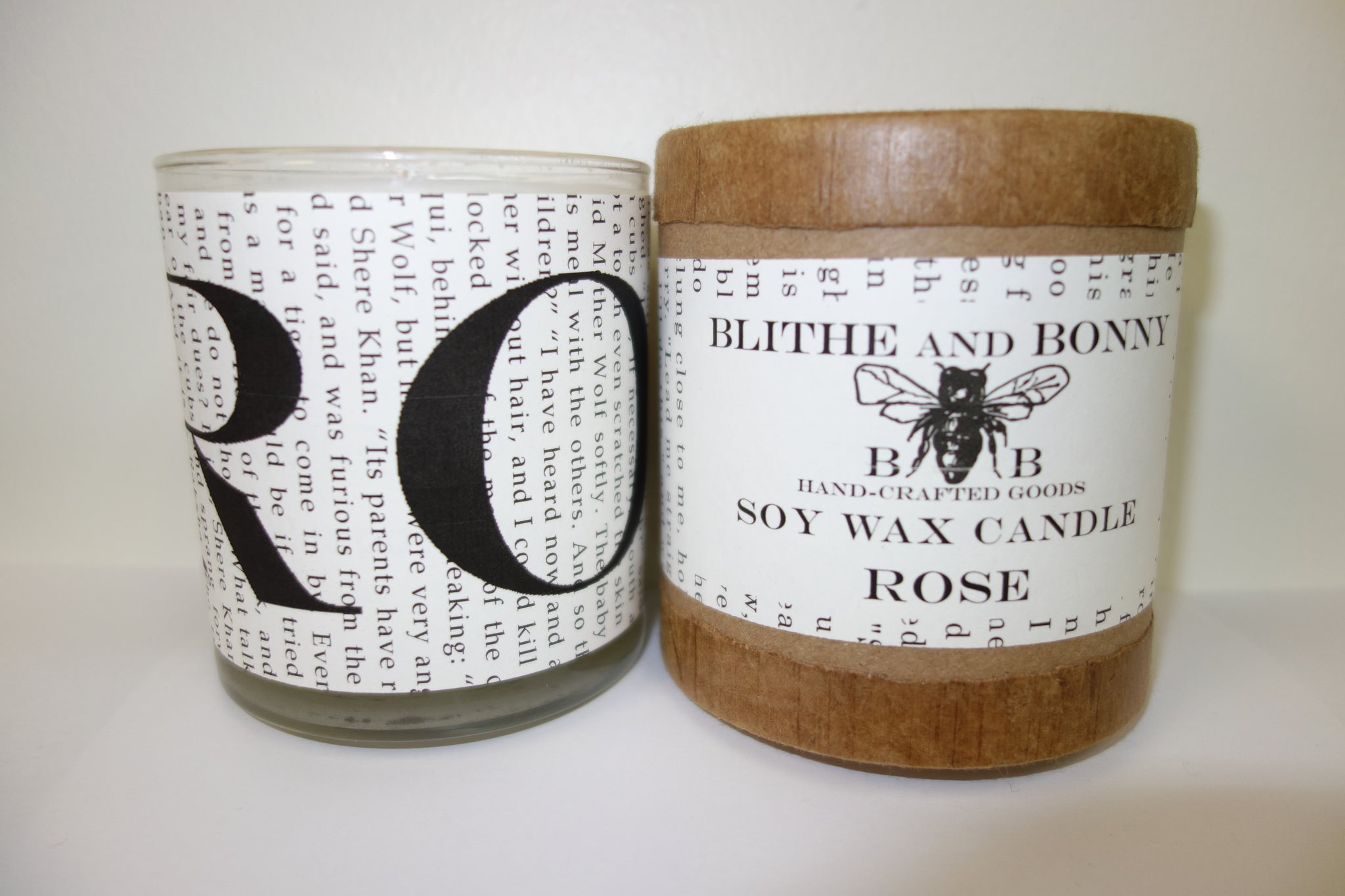 Blithe & Bonny Handcrafted Candle: Rose