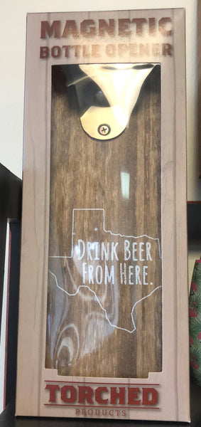 Magnetic Bottle Opener: Texas