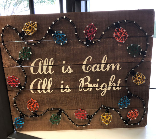 Calm & Bright Sting Art Box Sign