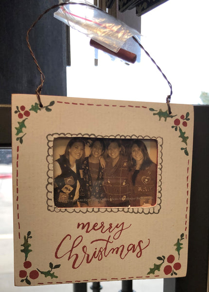 Merry Christmas Mini Picture Frame Hanger