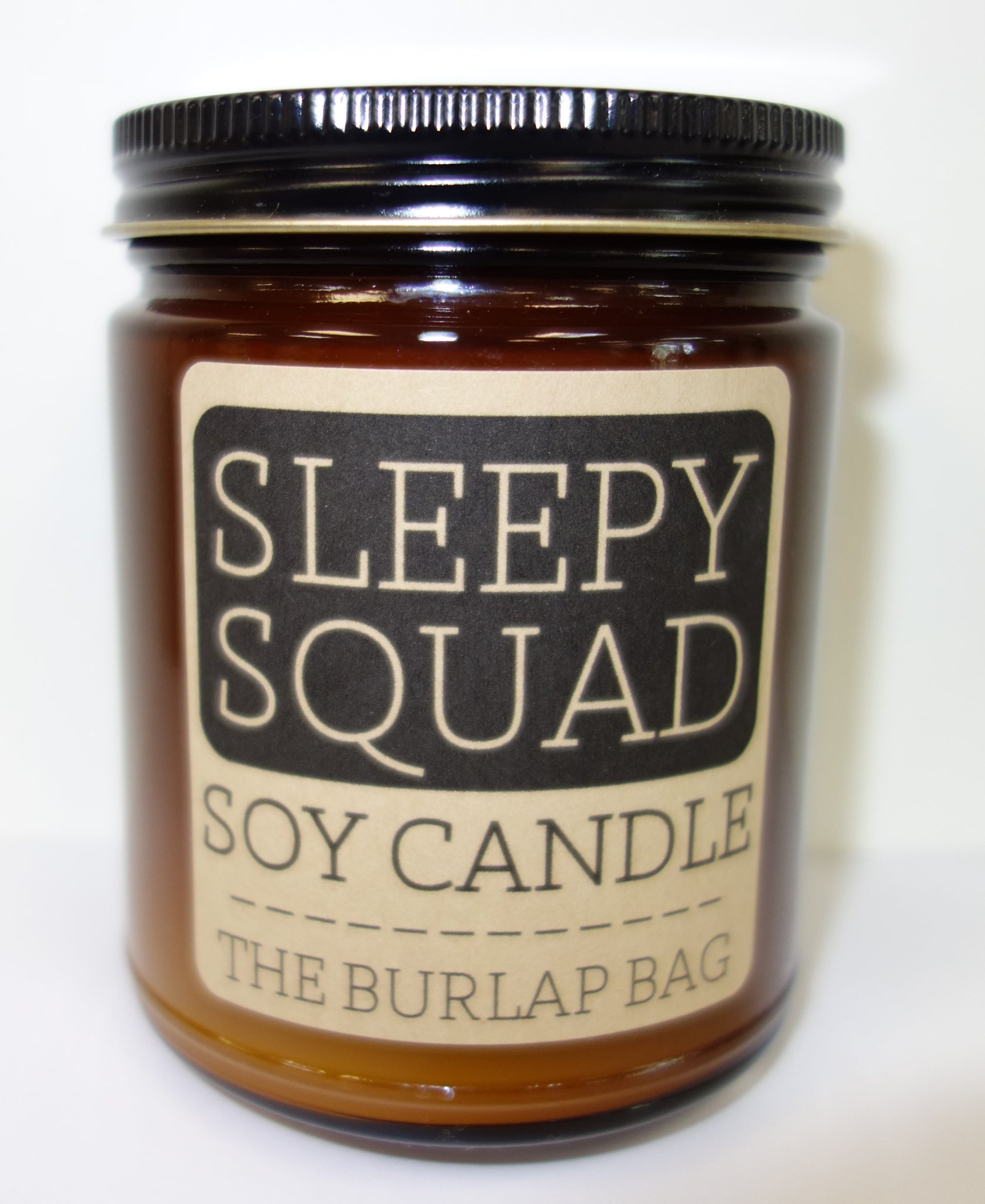 The Burlap Bag Soy Candle: Sleepy Squad