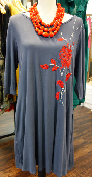 Rose Embroidered Tunic / Dress