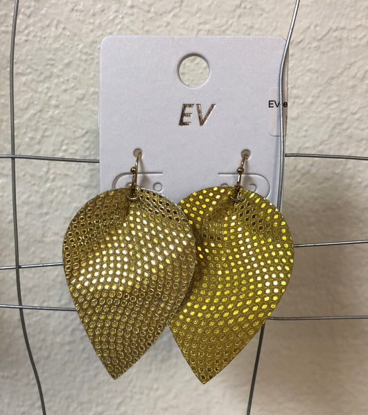EV Metallic Polka Dot Petal Dangles