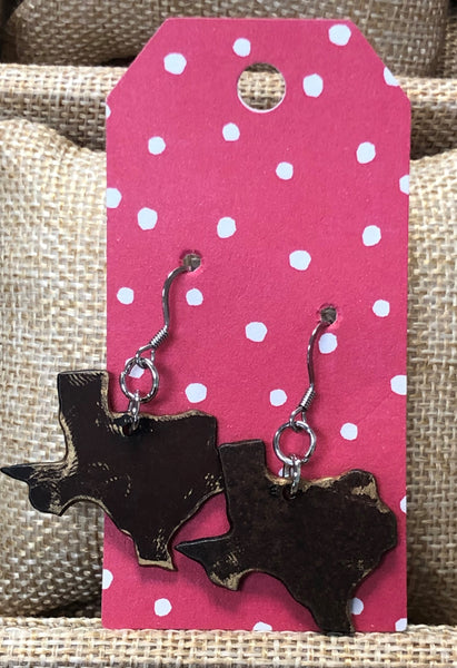 Texas Recycled Metal Earrings